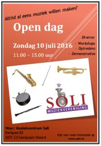 Open Dag Soli 10 juli