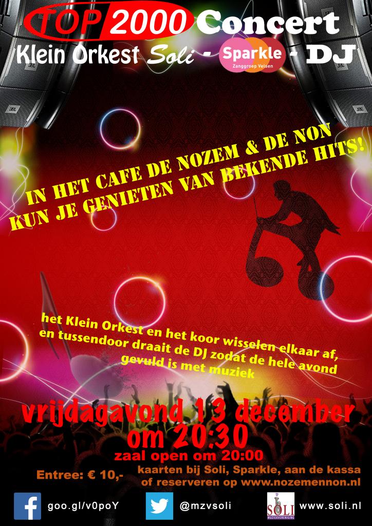 Poster van het TOP2000 concert van klein orkest soli